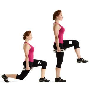 Knee-Lift-Walking-Lunge-GymMembershipFees