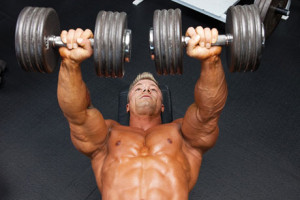 Dumbbell press.-GymMembershipFees