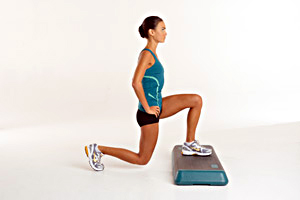 Elevated Reverse Lunge